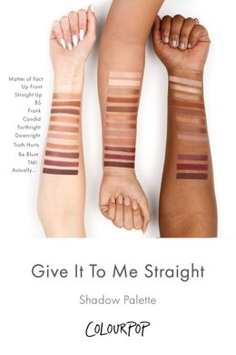 ColourPop Give it to me straight - палітра тіней