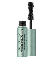 Too Faced Better Than Sex Mascara Waterproof - водостійка чорна туш для об'єму, travel size